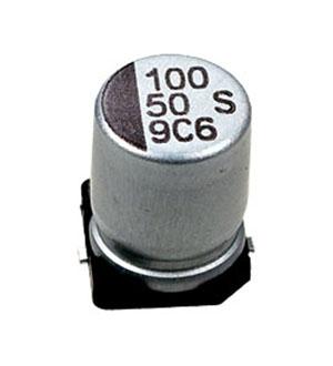 CB050M0100RSF-0810, ЧИП электролит.конденсатор  100мкф  50В 105гр  8x10.5