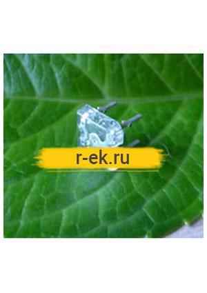 "BL-FL7600PGC, Светодиод ""Пиранья"" зеленый 100"" 5000мКд 525нМ (Ultra Pure Green)"