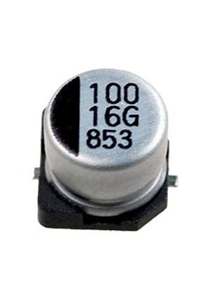 CA016M0100RED-0605, ЧИП электролит.конденсатор  100мкф  16В  6.3x5.4