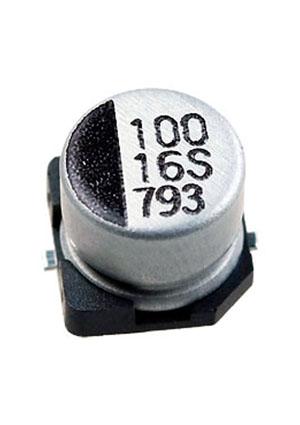CB016M0100RSD-0605, ЧИП электролит.конденсатор  100мкф  16В 105г  6.3x5.4
