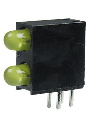 L-934EB/2YD, светодиодная сборка 2шт. желтый d=3мм 20мКд
