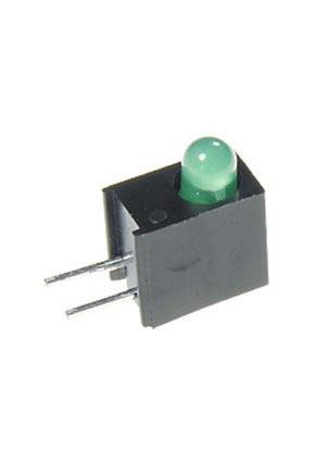 L-934EW/1GD, светодиод в корпусе зеленый 3мм 20мКд