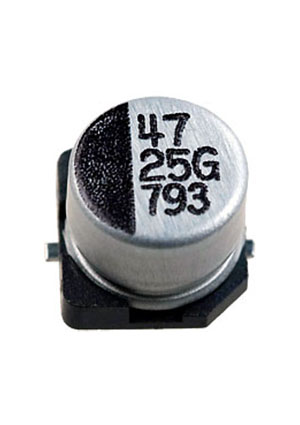 CA025M0047RED-0605, ЧИП электролит.конденсатор   47мкФ  25В  6.3x5.4