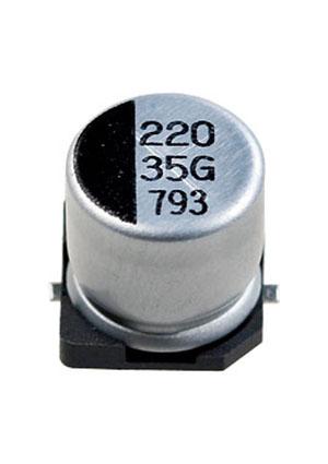 CA035M0220REG-1010, ЧИП электролит.конденсатор  220мкф 35В  10x10.5